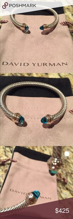 David Yurman 7mm bangle topaz size medium Gift ready and gorgeous with pouch and guaranteed authentic David Yurman Jewelry Bracelets