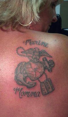 Marine mom tat Marine Corps Tattoos, Marine Tattoo, Army Tattoos, Military Tattoos, Parent Tattoos, Tattoos For Kids, Body Art Tattoos, New Tattoos, Tatoos