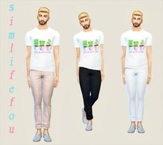 Bright colorful pants at Simlife • Sims 4 Updates