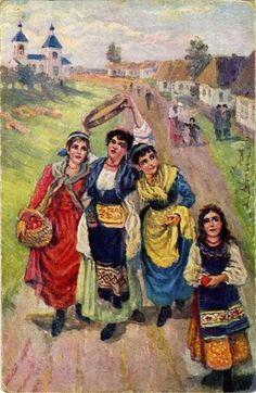 Винтажные открытки к Пасхе сделанные в России 155 (455x700, 68Kb)