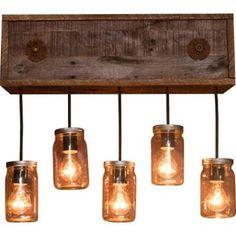 mason jar light fixtures - Google Search