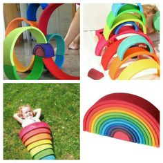 This rainbow inspires imaginative and creative play, as well as building, design and engineering. It's an exquisite quality toy that will enchant children of any age and become a much-loved childhood favourite companion as children grow.