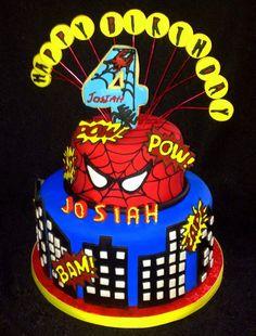 https://flic.kr/p/v4YeoE | Spider-Man Birthday Cake | Recreated.