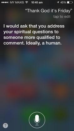TGIF Siri!