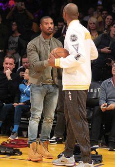 Michael B. Jordan in LA looking like a jersey dude