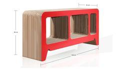Georgia Red Cardboard Sideboard Designed by Reinhard Dienes