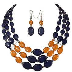 Navy Blue & Orange Flat Bead Layered Bib Bubble Statement... https://www.amazon.com/dp/B01I215F8U/ref=cm_sw_r_pi_dp_cxUKxbFVA5AHD
