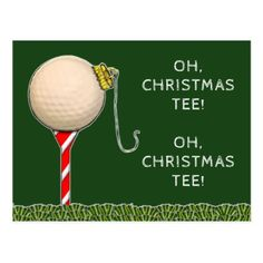 #Golf Christmas Postcard - #Xmas #ChristmasEve Christmas Eve #Christmas #merry #xmas #family #kids #gifts #holidays #Santa