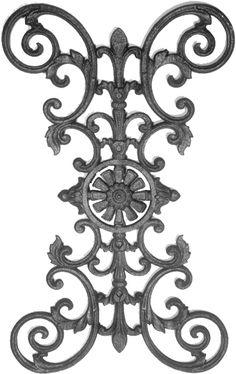 cast iron railing parts | Cast Iron Fence Panels & Parts