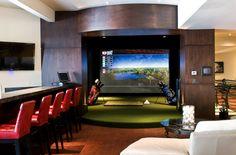 homes of the rich, park city utah, golf simulator room