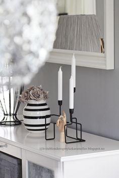 Kàhler-omaggio vase Geo lysestake-Kremmerhuset Wooden hand-HAY