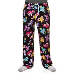 [Cute lounge pants, but NOT with an elastic cuff at the bottom]  I'm not even a My Little Pony fan. But these are pretty awesome and I think they would make me happier about having to lounge around.