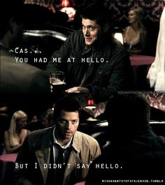 Funny pictures about Supernatural pick up lines. Oh, and cool pics about Supernatural pick up lines. Also, Supernatural pick up lines. Castiel, Supernatural Jensen Ackles, Supernatural Fandom, Supernatural Pictures, Supernatural Funny Moments, Sam Dean, Dean And Cas, Dean Winchester, Winchester Brothers