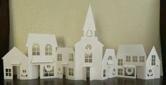 Villas navideñas de papel - Dale Detalles