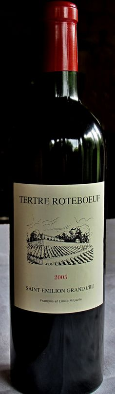 18. September 2013 - Château Tertre Rôteboeuf 2005, Saint Emilion, Bordeaux - Jeder Weintrinker hat seinen Lieblingswein. Dies ist meist eine Frage des Geschmacks, der Weinsozialisation oder ganz einfach einer momentanen Stimmung, die nicht selten von den Umständen und dem Ambiente beim Weingenusses abhängig ist.