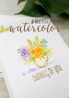 Design Clips: Fresh Cut Watercolors - Stamp Away With Me