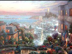 Thomas Kinkade - San Francisco, Lombard Street