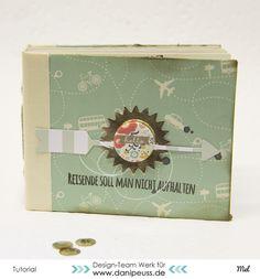 Minialbum Fadenbindung ohne Schummeln | eine DIY Anleitung von Mel für www.danipeuss.de | bookbinding