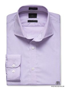 BR Monogram Purple Gingham Shirt