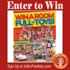 Facebook Twitter PinterestHere is an offer where you can enter to win the Room Full of Toys Holiday Sweepstakes, from The Toy Insider. PRIZES – (1) Grand Prize – Prize pack of various toys from The Toy Insider's 2016 Hot Holiday Toy list. ENTRY – One Time Entry. ENDING – December 9, 2016. ENTER HERE