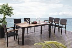 Outdoor furniture rattan dining table with teak wood table top and chair with teak wood armrest for garden furniture, View Outdoor Furniture Garden Dining Set, Shine Product     Shine Outdoor Rattan Wicker Ding sets From Shine international Group Limitted market4@shininggroups.com Skype: suzen17278630 What's App : +86 13927710930 www.shininggroups.com