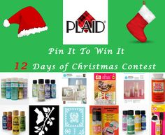 Enter Plaid's Pin It To Win It 12 Days of Christmas Contest