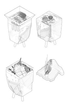 archidose Architecture Graphics, Architecture Student, Architecture Drawings, Usc Library, Library University, Technical Illustration, Technical Drawing, Smout Allen, Isometric Drawing