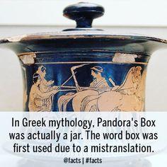 #Facts #GreekMythology #PandorasBox #Jar #Translation