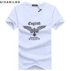 >> Click to Buy << Givanildo 2017 New Fashion Clothes English Owl Men T-Shirt Short Sleeve Casual Cotton 5XL Student Tee Shirt Hiphop BY012 #Affiliate
