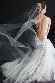 Low back wedding dress. Backless wedding dress