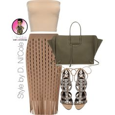 A fashion look from August 2015 featuring Alexander Wang skirts, Schutz sandals and Balenciaga tote bags. Browse and shop related looks.