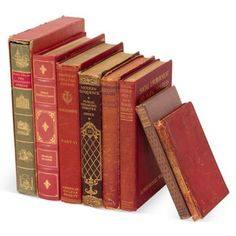 Check out this item at One Kings Lane! Red Vintage Books, Set of 8