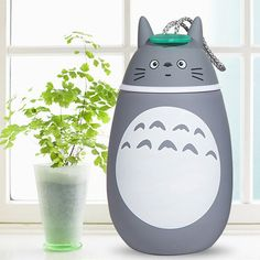 Cute Totoro Shape Vacuum Water Cup Portable Stainless Steel Thermoses - 280ml #men, #hats, #watches, #belts, #fashion, #style