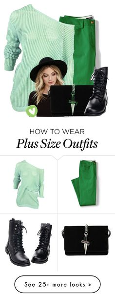 """""""//Outfit"""" by luluzilla676 on Polyvore featuring Lands' End, Alexander Wang, RHYTHM, Cesare Paciotti and plus size clothing"""