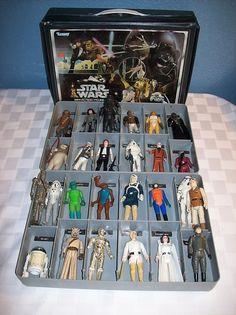 Vintage Star Wars case and figures