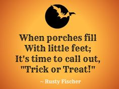 Trick or treat... A Halloween poem