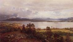 Hans Gude (Norwegian 1825–1903) [Norwegian romantic nationalism] Molde Fra Utsikten, 1890. Private Collection.