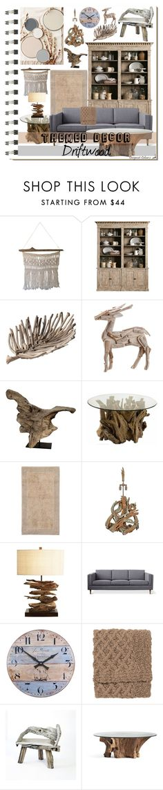 """""""Interior Notebook - Themed Decor - Driftwood"""" by designcat-colour ❤ liked on Polyvore featuring interior, interiors, interior design, home, home decor, interior decorating, Koo, Lazy Susan, Allstate Floral and Uttermost"""