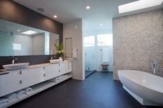 Bath, Bathroom, Mirror, Sinks, House in Golden Beach, Florida