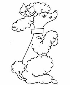 Kids Coloring Pages   Pre-K Coloring Pages - French Poodle  Pre-K shapes coloring pages are great for young children and early learners to learn and color with. This page has an image of a cute French Poodle for beginners to color.