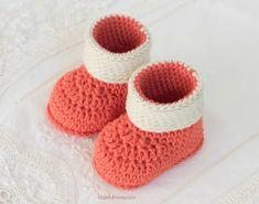 Autumn Blaze Baby Booties - Free Crochet Pattern by Hopeful Honey
