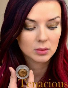 """Splurge Cream Eyeshadow in """"Tenacious"""" Such a gorgeous color. The staying power of these cream shadows is amazing, and they DON'T crease! Can also be used on the lips as a lip color. Order yours at www.beautybyjd.com"""