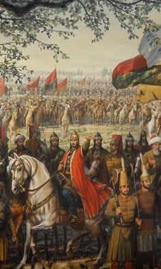 Spain attacked the Netherlands, and some of the soldiers of the Netherlands dressed in the uniforms of the Ottoman soldiers, the Spaniards thought of the existence of an Ottoman garrison, they stopped attacking for 30 years! European History, Art History, Empire Ottoman, Warrior Paint, Islamic Paintings, Early Middle Ages, Mural Art, Military History, Beautiful Paintings