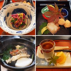 Beautiful to look at, kaiseki food