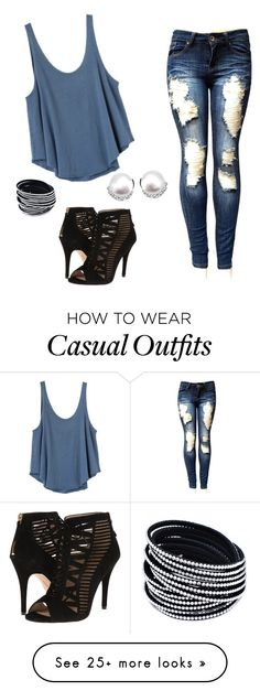 """""""casual"""" by stephens-nichole on Polyvore featuring RVCA and Nine West"""