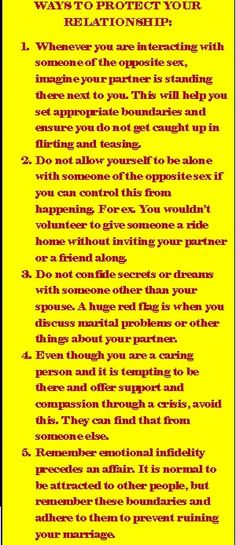Ways to protect your relationship from infidelity