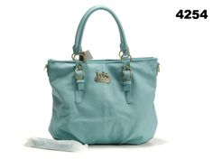 Coach Grainy Leather Small Tote Bag Cyan [Coach-0695] - $51.35 : Coach Outlet Canada Online