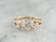 Diamond Wedding Rings : RESERVED Swirling Victorian European Cut Diamond von MSJewelers