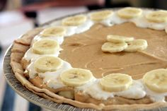 Elvis Fluffernutter Pie. Bananas, peanut butter, cream cheese, marshmallow fluff...lots of good stuff here.