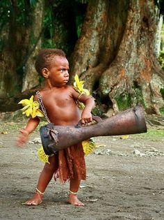 So serious! - Little drummer boy by Talamus